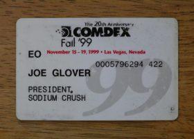 COMDEX 1999 - 20 Years of Sodium Crush